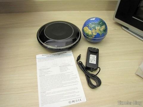 Globe Floating Maglev UFO Cheerlink 106mm c / Generator Anion (CHEERLINK 106mm UFO Maglev Floating Globe w/ Anion Generator – Blue + Black (US Plug / AC 100 ~ 240V)), base, source and manual