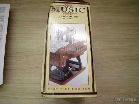 Packing Mini Musical Box Mechanical Old Style Sewing (Vintage Mini Sewing Machine Style Mechanical Music Box)