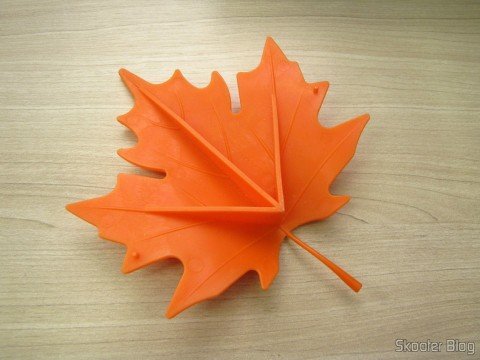 Parte de baixo do Para-Porta Estilo Folha de Maple Laranja (Maple Leaf Style Door Stopper Guard – Orange)