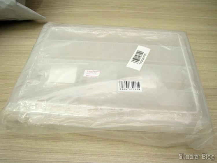 Caixa Plástica para Armazenamento com 40 Compartimentos de Livre Combinação Branco Translúcida (40-Compartment Free Combination Plastic Storage Box for Hardware Tools / Gadgets - Translucent White)