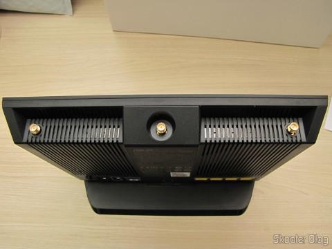 Parte superior do Roteador ASUS RT-AC68U Dual Band Gigabit Router 802.11ac Wireless-AC1900