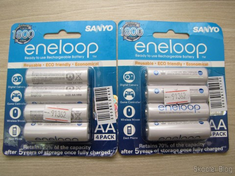 Packs of 4 Rechargeable AA NiMH 1.2V 1900mAh Sanyo Eneloop Warm (Genuine Sanyo Rechargeable 1.2V 1900mAh AA Batteries (4-Piece Pack))