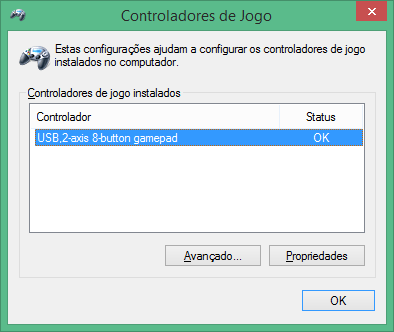 Super Nintendo gamepad (SNES) PC Buffalo (Nintendo Super Famicom SNES Gamepad for PC (PC) (BUFFALO)) detected and automatically installed drivers in Windows 8.1