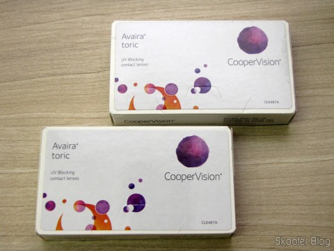 The two boxes of contact lenses Cooper Vision Avaira Toric