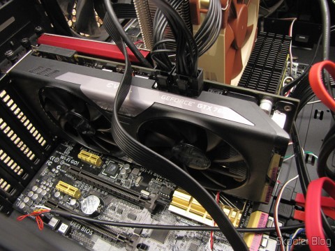 Video Card EVGA GeForce GTX 760 SC 4GB DisplayPort HDMI DVI-I/DVI-D com Cooler ACX 04G-P4-2768-KR (EVGA GeForce GTX 760 SC 4GB DisplayPort HDMI DVI-I/DVI-D Graphics Card with ACX Cooler 04G-P4-2768-KR), installed the new motherboard