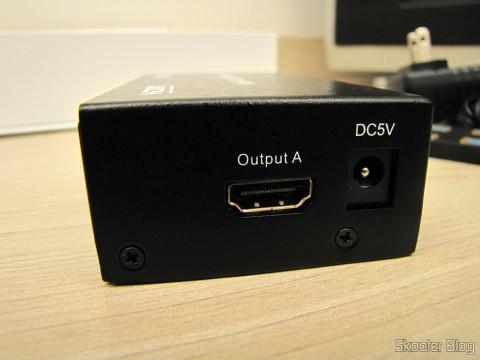 Saída A na Matriz HDMI 1080p LINK-MI LM-MX03 - 4 Entradas / 2 Saídas (LINK-MI LM-MX03 1080p HDMI Matrix - Black (4-In / 2-Out))