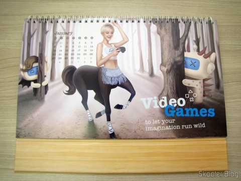 Calendar Table of DX 2014 with Discount Vouchers in 12 months, totaling $ 237,00 (DX 2014 Desk Calendar with 12 Months' Coupon Codes (Value USD$ 200)): January, on the side with the picture