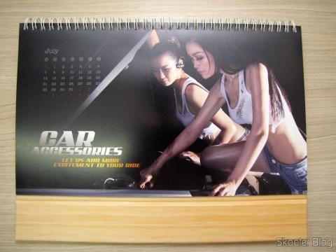 Calendário de Mesa da DX 2014 com Cupons de Desconto nos 12 meses, totalizando US$ 237,00 (DX 2014 Desk Calendar with 12 Months' Coupon Codes (Value USD$ 200)): Mês de Julho