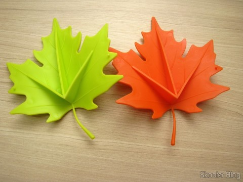 Para-Portas Estilo Folha de Maple Laranja (Maple Leaf Style Door Stopper Guard - Orange) e Para-Portas Estilo Folha de Maple Verde (YSDX-382 Maple Leaf Style EVA Door Stopper - Green)