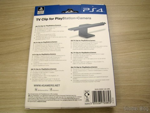 Camera Clip for Playstation 4 (PS4) Official Licensed 4Gamers (Officially Licensed Clip for Playstation 4 Camera (PPS4 (4GAMERS)), on its packaging