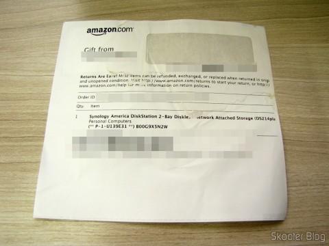 Invoice da Amazon
