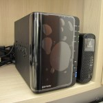O Synology America DiskStation 2-Bay Diskless Network Attached Storage (DS214play) em funcionamento