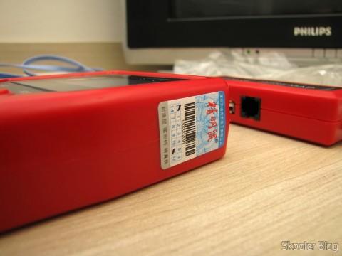 Unidade Principal do Testador de Cabos de Rede LAN, Telefone, USB, BNC e Firewire com Rastreador de Cabos e Display LCD (Network LCD LAN Cable Tester Phone Wire Tracker RJ45 RJ11 BNC USB Scanner 5E, 6E)