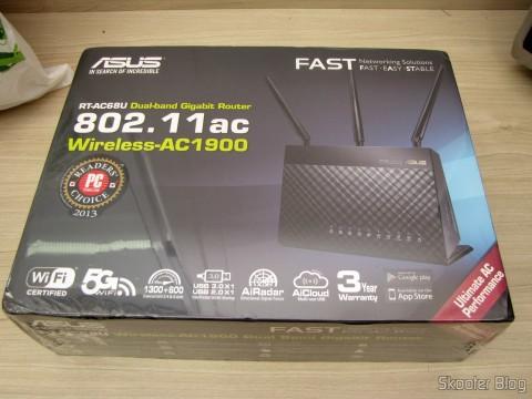 Roteador ASUS RT-AC68U Dual Band Gigabit Router 802.11ac Wireless-AC1900