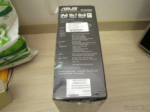 Roteador ASUS RT-AC68U Dual Band Gigabit Router 802.11ac Wireless-AC1900
