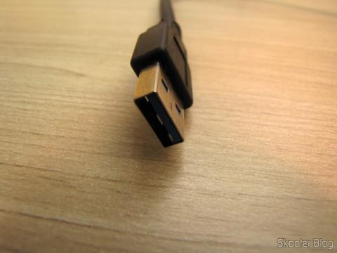 USB Connector 3.0 do Hub USB 3.0 with 4 portas ORICO W8PH4-U3 (ORICO W8PH4-U3 4-HUB USB 3.0 Hub - Black)
