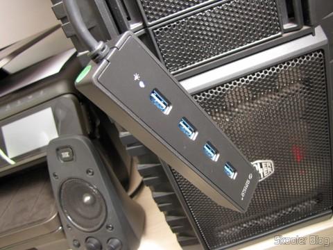 Hub USB 3.0 with 4 portas ORICO W8PH4-U3 (ORICO W8PH4-U3 4-HUB USB 3.0 Hub - Black) operation