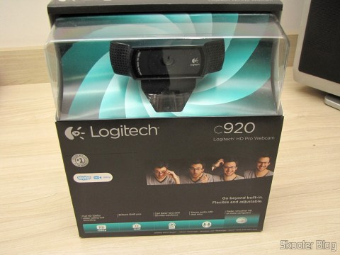 Logitech HD Pro Webcam C920, 1080p Widescreen Video Calling and Recording, on its packaging