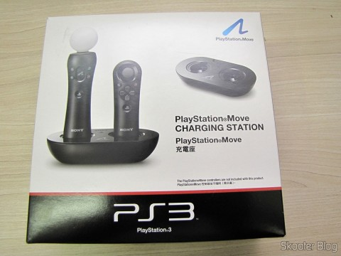 Playstation Move Charging Station, on its packaging