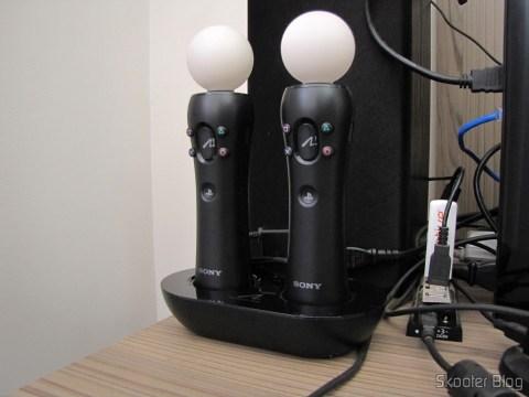 Playstation Move Charging Station, em funcionamento