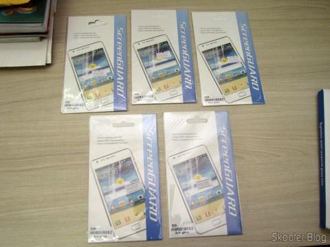 5 Películas Protetoras de Tela Matte (Fosca) para Samsung Galaxy Grand Duos (Protective Matte Screen Protector Films for Samsung Galaxy Grand i9080 / Duos i9082 - Transparent)