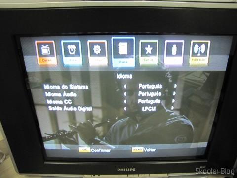 Setup screen in the EKOTECH ZBT-670N