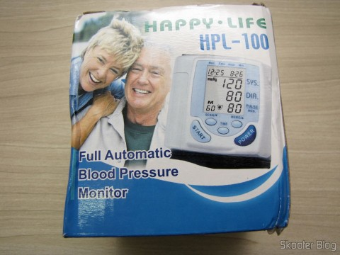 Blood Pressure Monitor Pulse Full Auto Happy Life HPL-100, on its packaging