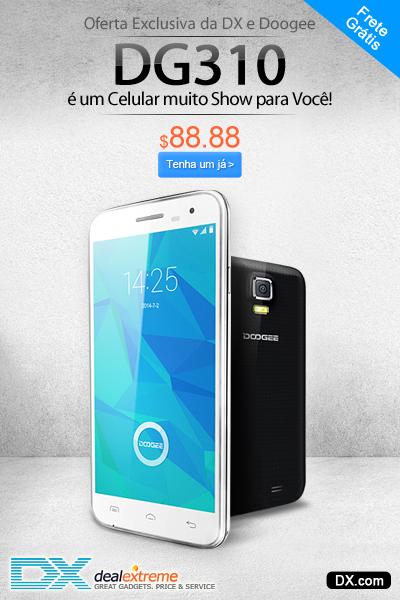 "Pré-venda DOOGEE VOYAGER2 DG310 Quad-Core Android 4.4 Bar Telefone w / 5.0 ""IPS, 8GB ROM, OTG, GPS, OTA"