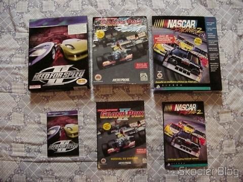 As séries Need for Speed, Grand Prix e Nascar também estavam entre minhas preferidas. Garimpei promoção desses 3 aí, em 3 lojas diferentes, na finada Fenasoft.