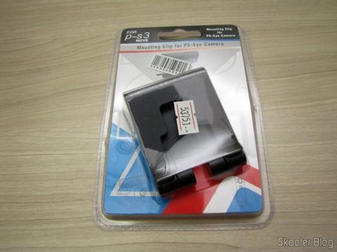 Suporte/Clip para Câmera Playstation Eye do Playstation 3 (PS3), em sua embalagem