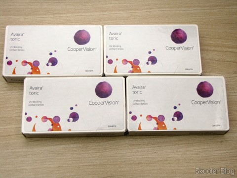 4 Contact Lens Cooper Vision Avaira Toric boxes