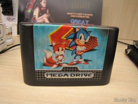 Cartucho Sonic The Hedegehog 2, accompanying my Mega Drive III Tec Toy