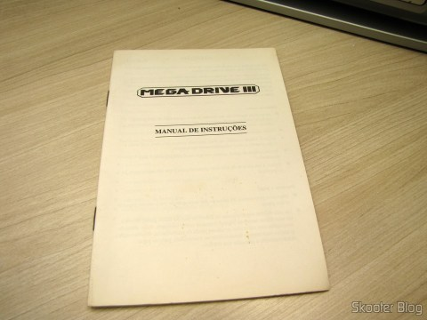 O manual do Mega Drive III da Tec Toy
