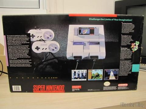 A caixa do Super Nintendo norte-americano