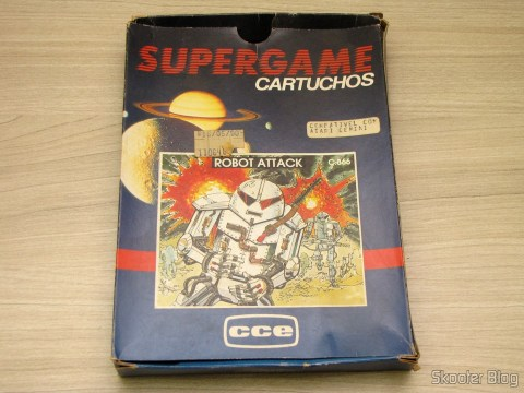 Caixa do Cartucho Robot Attack do Atari 2600