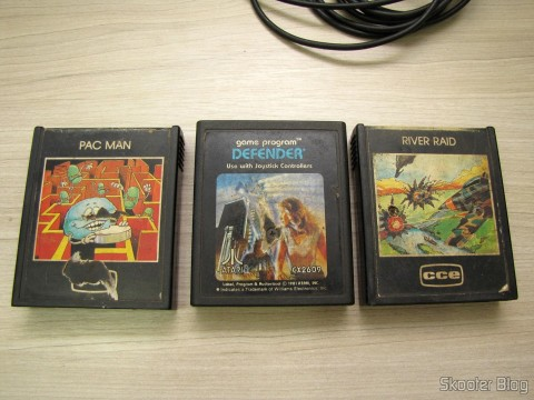 The Pac Man cartridges, Defender e River Raid
