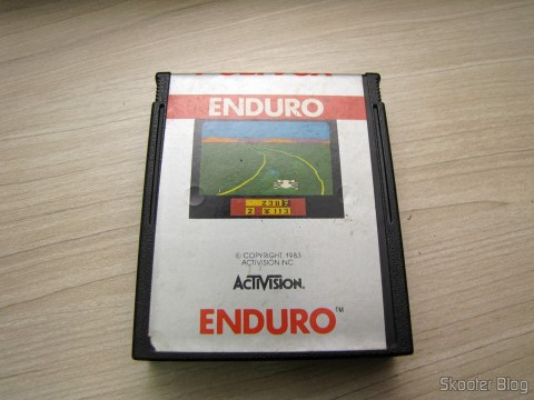 Enduro cartridge that came with Atari 2600