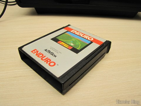 Enduro cartridge Atari 2600, after standard cleaning quality Skooter