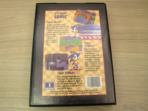 Cartucho Sonic The Hedgehog em sua caixinha
