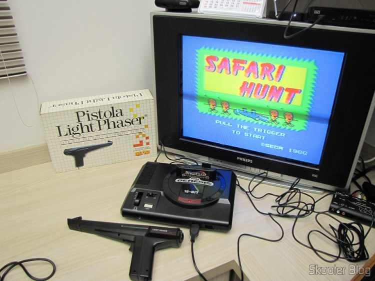 Jogos de Master System que utilizam a Pistola Light Phaser no Mega Drive com o Mega Everdrive: Safari Hunt