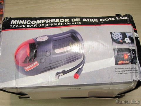 Mini Compressor / Air Pump for 12V Car (Mini Car Air Pump Compressor Tire Gauge - Black + Silver (DC 12V)), on its packaging