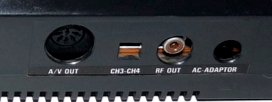 Outputs of the American Master System, DIN plug to the A / V and RGB