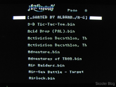 Tela do Harmony Cartridge - The cartridge with flash memory for the Atari 2600