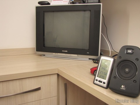"Philips CRT TV 20"" where the Mega Drive III was installed"