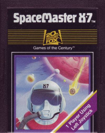 The X-7 cartridge SPACEMASTER, original name of 20th Century Fox Game / Fox Video Games