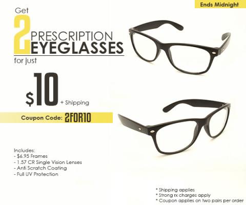 Goggles4U: 2 Pares de Óculos por US$ 10,00