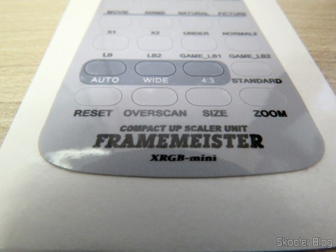 Adhesive with translation to English for the Remote Control Mini XRGB Framemeister