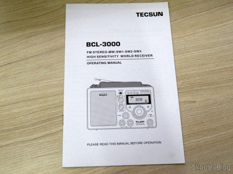 Manual de Instruções do Rádio Tecsun BCL-3000 com Sintonizador Analógico e Display Digital AM/FM/SW Mundial