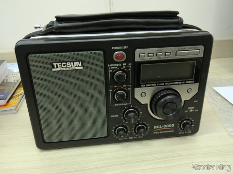 Rádio Tecsun BCL-3000 com Sintonizador Analógico e Display Digital AM/FM/SW Mundial