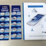 2 Cartelas com 5 Baterias Botão CR2032 3V e Película Protetora de Tela de Vidro Temperado para Samsung Galaxy Grand Duos